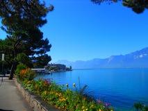Embankment in Montreux Stock Photos