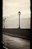 Embankment morning in Florence. View of the embankment morning in Florence Stock Photos