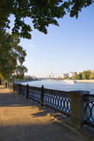 Embankment on a moscow river Royalty Free Stock Photo