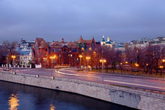 Embankment of the Moscow river Stock Photo