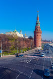 The embankment of the Moscow river with Kremlin, Russia Royalty Free Stock Images