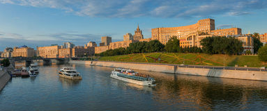 Embankment of Moscow the river Royalty Free Stock Images