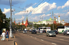Embankment in Moscow. Stock Images