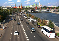 Embankment in Moscow. Royalty Free Stock Photography