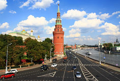 Embankment in Moscow. Royalty Free Stock Photos