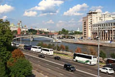 Embankment in Moscow. Stock Photos
