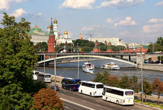 Embankment in Moscow. Royalty Free Stock Image