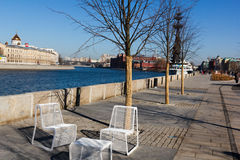 Embankment. Of the Moskva river Moscow, Russia royalty free stock photos