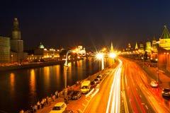 Embankment of the Moskva River near the Kremlin Stock Image
