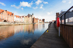Embankment of Motlawa in Gdansk Stock Image