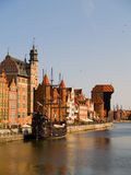 Embankment  of Motlawa river, Gdansk Royalty Free Stock Image