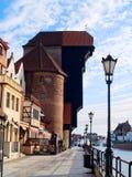 Embankment  of Motlawa river, Gdansk. Old town on Moltawa river , Gdansk, Poland Stock Image