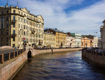 Embankment of the Moyka River in Saint Petersburg, Stock Image