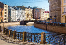 Embankment of the Moyka River in Saint Petersburg, Russia Royalty Free Stock Photos