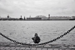 Embankment of the Neva river Stock Photography