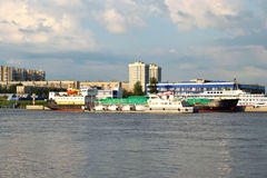 Embankment of the Neva river, St.Petersburg Royalty Free Stock Photo
