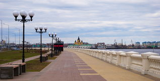 Embankment in Nizhny Novgorod Royalty Free Stock Images