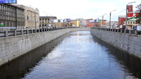 Embankment of the Obvodniy Canal in the center of the hero city of St. Petersburg stock video footage