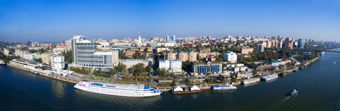 Embankment Of Rostov-on-Don. Panorama. Russia Royalty Free Stock Photos