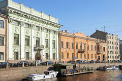 Embankment Of The Moyka River In Saint Petersburg, Russia Stock Images