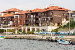 Embankment of old Nesebar in Bulgaria Royalty Free Stock Images