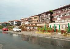 Embankment of old part of Nesebar after May rain Stock Photo