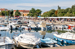 Embankment in old part of towne Porec, Croatia Stock Photography