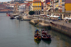 Embankment in old Porto, Portugal Royalty Free Stock Photos