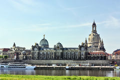 Embankment of the old town of Dresden,Saxony,Germany Stock Photography