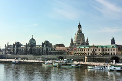Embankment of the old town of Dresden,Saxony,Germany Stock Image
