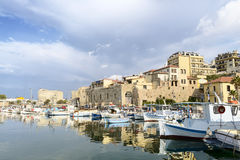 Embankment in Old town of Iraklion. Crete. Greece Royalty Free Stock Photos
