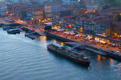 Embankment in old town of Porto, Portugal royalty free stock photography
