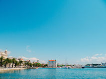The embankment of the old town of Split Stock Photos