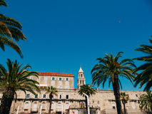 The embankment of the old town of Split Stock Image
