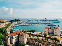 The embankment of the old town of Split Royalty Free Stock Images