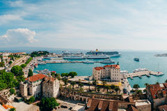The embankment of the old town of Split Stock Photography