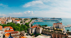 The embankment of the old town of Split Stock Images