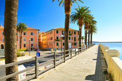 Embankment in Orbetello Royalty Free Stock Images