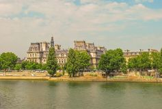 embankment in Paris. Royalty Free Stock Images