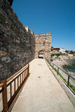 Embankment and part of an ancient stone wall in the old town of Sozopol in Bulgaria Stock Photography