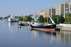 Embankment of Peter the Great. Kaliningrad, Russia Stock Photo