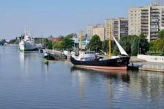 Embankment of Peter the Great. Kaliningrad, Russia Stock Photo