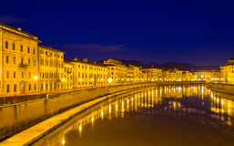 Embankment of Pisa in the evening Royalty Free Stock Photos