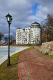 Embankment of pond Verhnee (Oberteich). Kaliningrad (until 1946 Stock Image