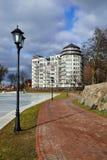 Embankment of pond Verhnee (Oberteich). Kaliningrad (until 1946 Stock Image