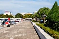 Embankment in the Porec town, Croatia Royalty Free Stock Photos