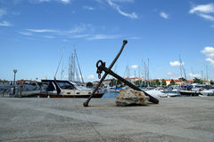 Embankment port of the old town of Porec, Istria, Croatia Stock Photos
