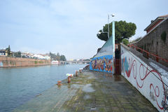 Embankment of the Porto Canale Stock Image