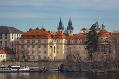 Embankment in Prague Stock Image