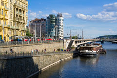 Embankment in Prague Stock Images